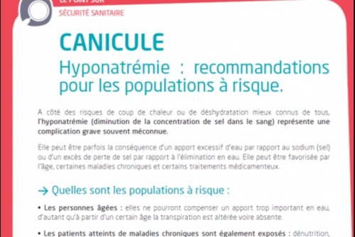 INFORMATION CANICULE